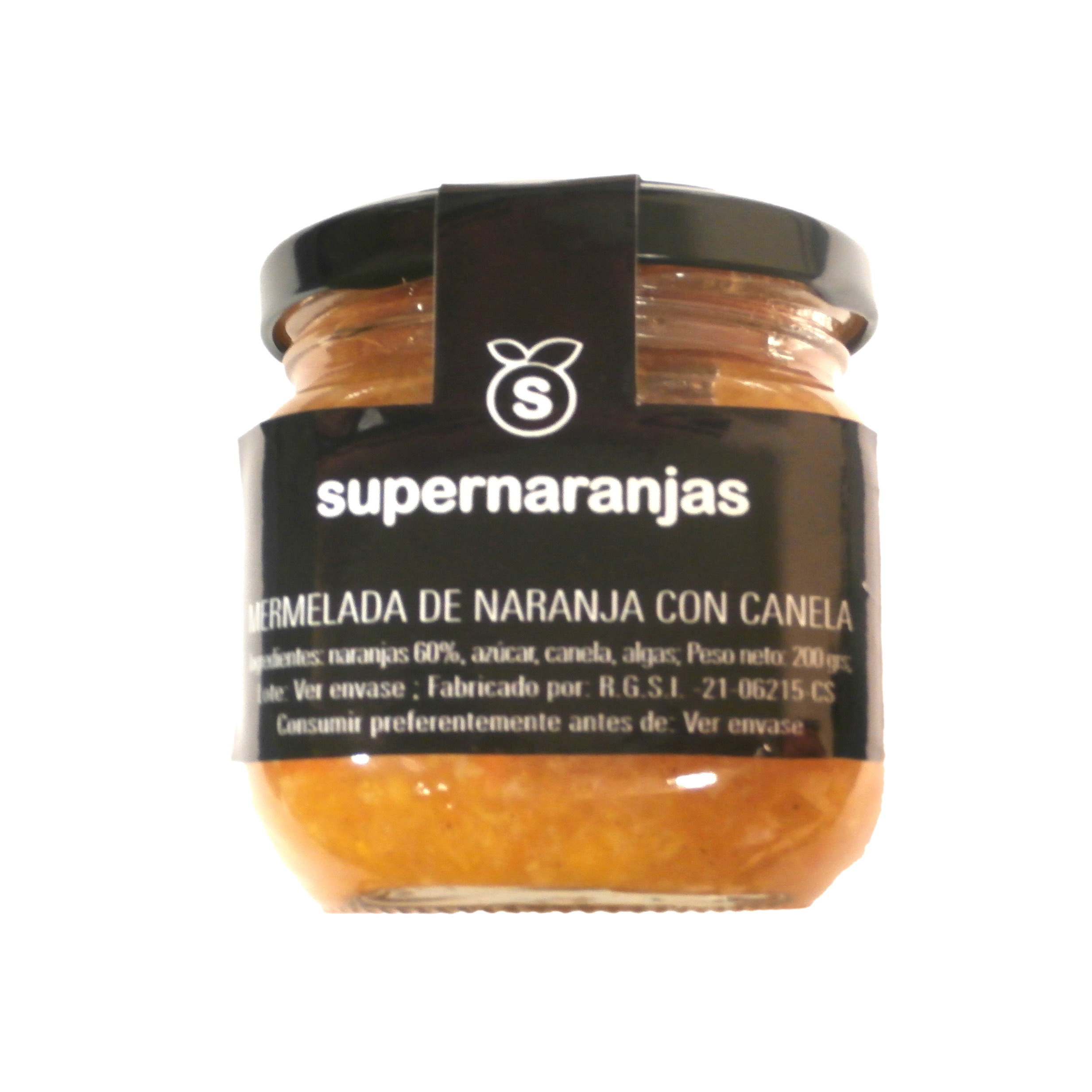 Orange marmalade with cinnamon 200 gr