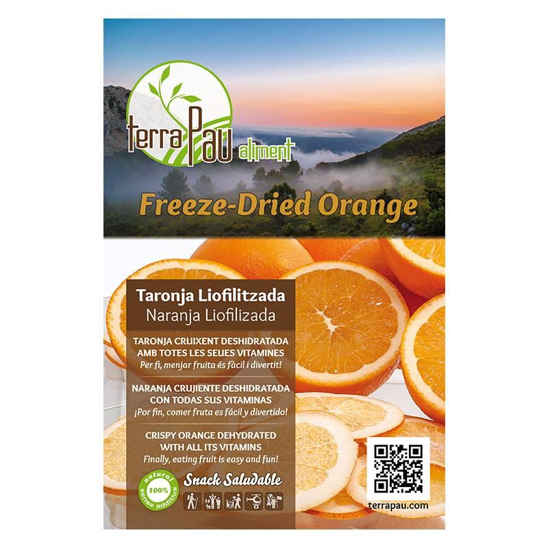 Orange lyophilisée